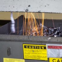 Hardware destroying bin