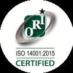 ORI - OHSAS: 14001:2015 CERTIFIED
